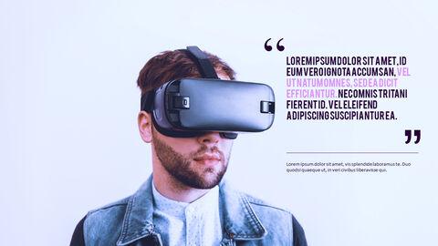 가상 현실 (VR) 심플한 파워포인트 템플릿 디자인_27