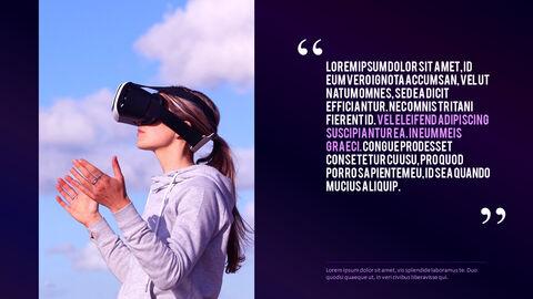 가상 현실 (VR) 심플한 파워포인트 템플릿 디자인_28