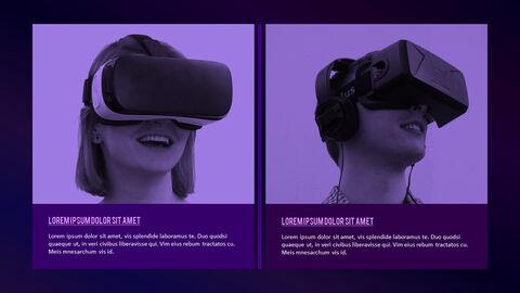가상 현실 (VR) 심플한 파워포인트 템플릿 디자인_29