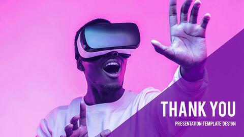 가상 현실 (VR) 심플한 파워포인트 템플릿 디자인_40