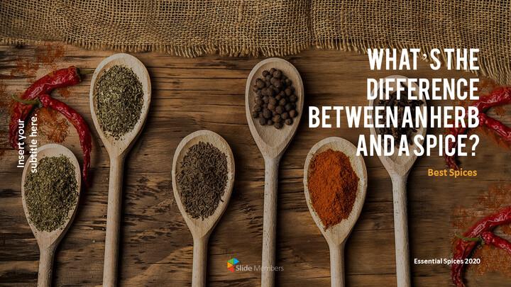 허브와 향신료의 차이점은 무엇입니까? 파워포인트 프레젠테이션 샘플_01