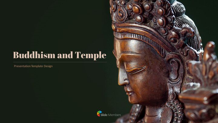 Buddhism and Temple PPT Templates Design_01
