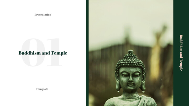 Buddhism and Temple PPT Templates Design_02