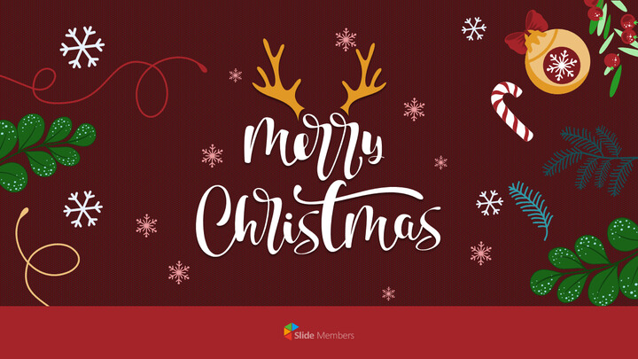 Christmas Illustration PPT Background Images_01