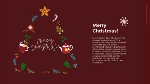 Christmas Illustration PPT Background Images_03