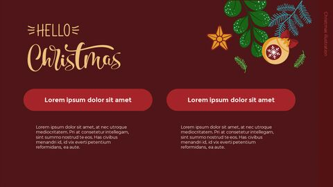 Christmas Illustration PPT Background Images_04