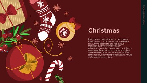 Christmas Illustration PPT Background Images_05