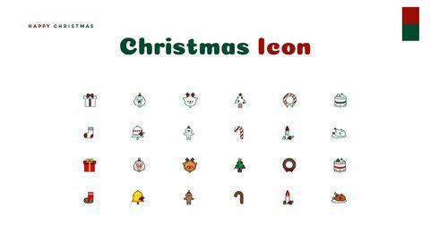 크리스마스 선물 파워포인트 비즈니스 템플릿_41