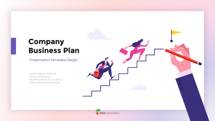 Company Business Plan Report PPT Background Images_01