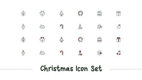메리 크리스마스 간단한 디자인 템플릿_41