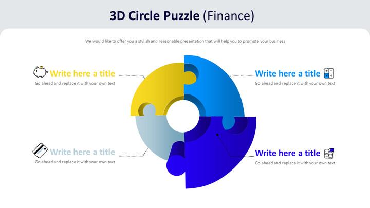 3D 서클 퍼즐 다이어그램 (금융)_01