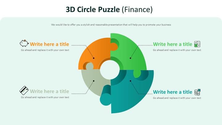 3D 서클 퍼즐 다이어그램 (금융)_02