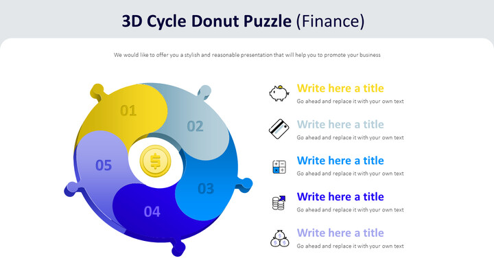 3d Cycle Donut Puzzle Diagram (Finance)_01
