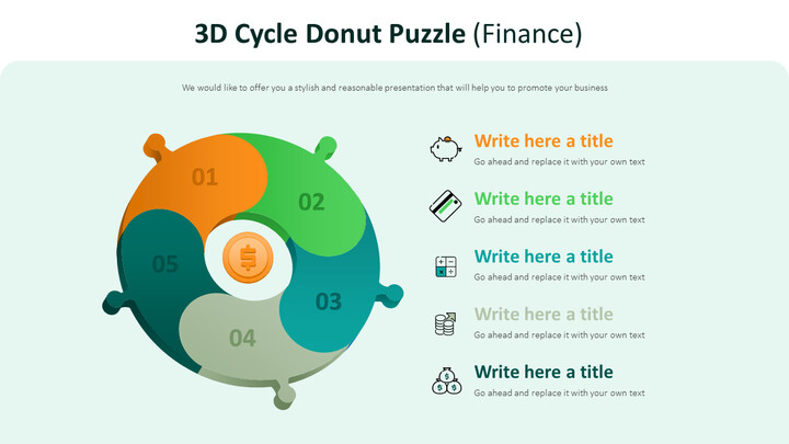 3d Cycle Donut Puzzle Diagram (Finance)_02