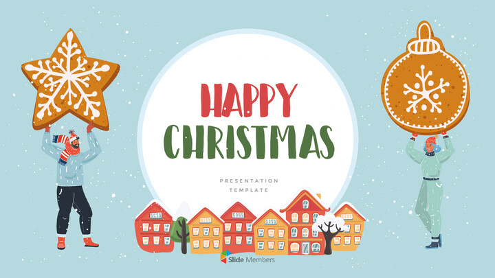Happy Christmas PPT Templates Design_01