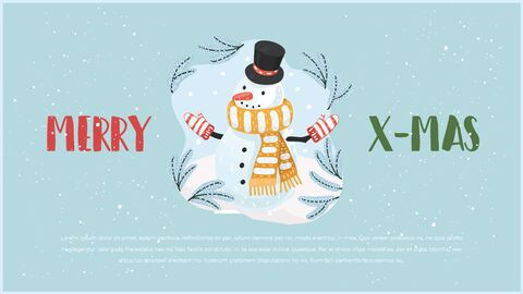 행복한 크리스마스 피피티 템플릿 디자인_09