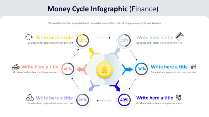 Money Cycle Infographic Diagram (Finance)_01