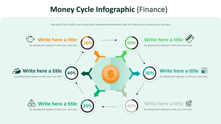 Money Cycle Infographic Diagram (Finance)_02