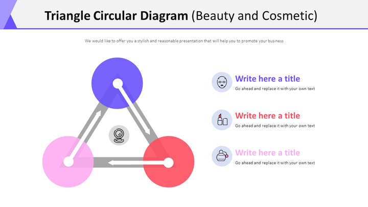 Triangle Circular Diagram Diagram (Beauty and Cosmetic)_01