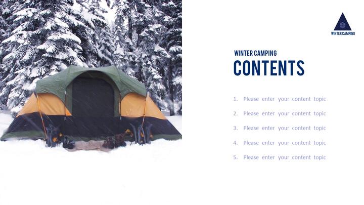 겨울 캠핑 파워포인트 레이아웃_02