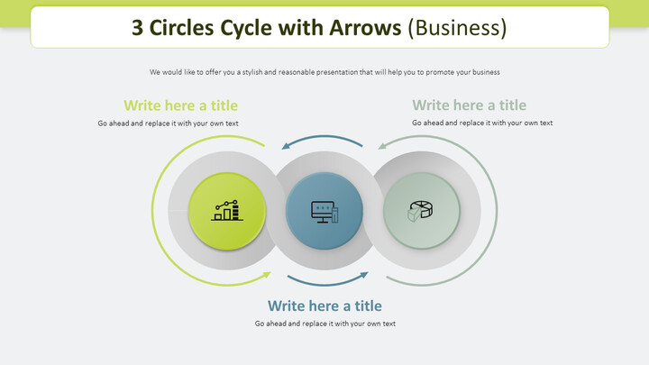 3 Circles Cycle with Arrows Diagram (Business)_02