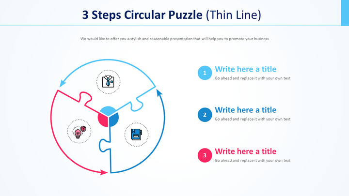 3 Steps Circular Puzzle Diagram (Thin Line)_01