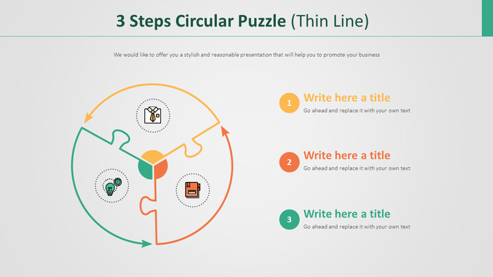 3 Steps Circular Puzzle Diagram (Thin Line)_02