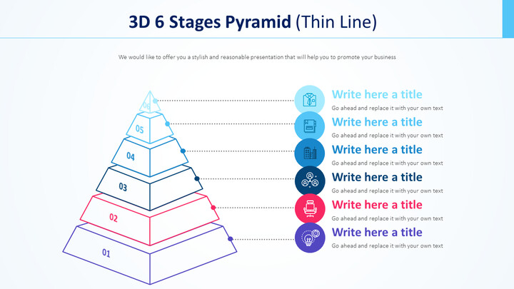 3D 6 Stages Pyramid Diagram (Thin Line)_01