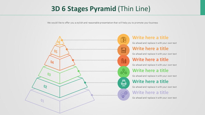 3D 6 단계 피라미드 다이어그램 (가는 선)_02