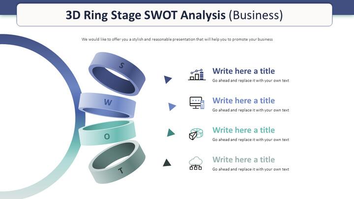 3D 링 스테이지 SWOT 분석 다이어그램 (비즈니스)_01