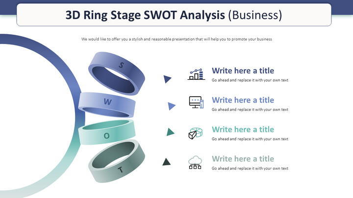 3D Ring Stage SWOT Analysis Diagram (Business)_01