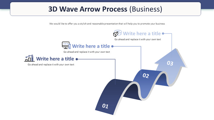 3D Wave Arrow Process Diagram (Business)_01