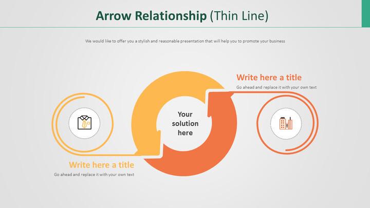 Arrow Relationship Diagram (Thin Line)_02