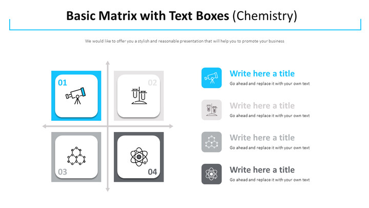 Basic Matrix with Text Boxes Diagram (Chemistry) Design brief Templates_01