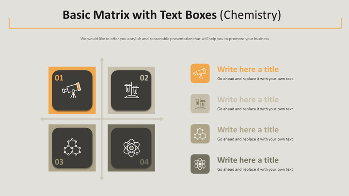 Basic Matrix with Text Boxes Diagram (Chemistry) Design brief Templates_02