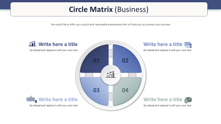 Circle Matrix Diagram (Business) PowerPoint Table of Contents_01