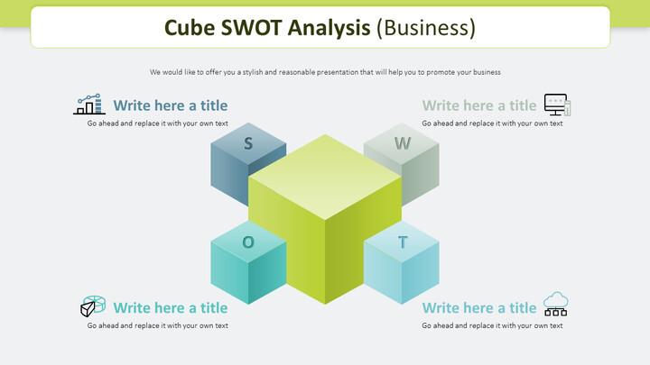 큐브 SWOT 분석 다이어그램 (비즈니스)_02