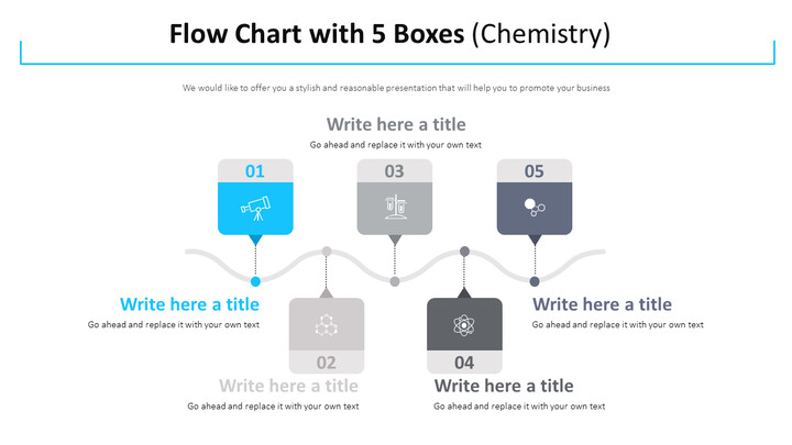 Flow Chart with 5 Boxes Diagram (Chemistry)_01