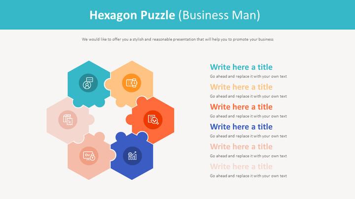 Hexagon Puzzle Diagram (Business Man)_01