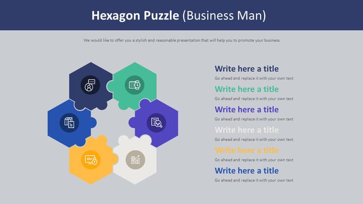Hexagon Puzzle Diagram (Business Man)_02