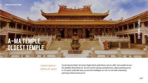 마카오 여행 PPT 테마 슬라이드_04