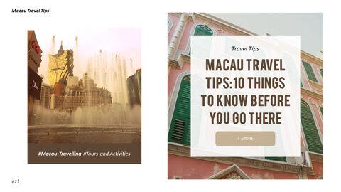 마카오 여행 PPT 테마 슬라이드_11