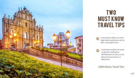 마카오 여행 PPT 테마 슬라이드_27