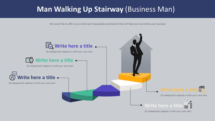 Man Walking Up Stairway Diagram (Business Man)_02