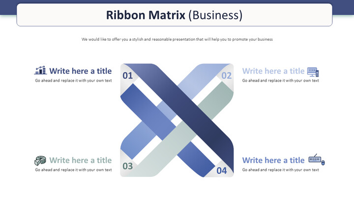 Ribbon Matrix Diagram (Business) Theme Presentation Templates_01