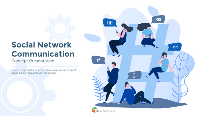 Social Network Communication Modern PPT Templates_01