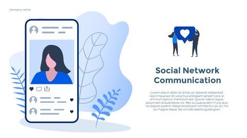 Social Network Communication Modern PPT Templates_07