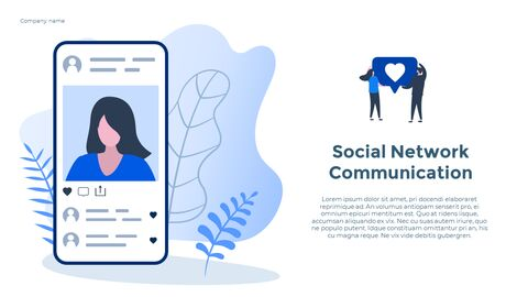 Social Network Communication Modern PPT Templates_07
