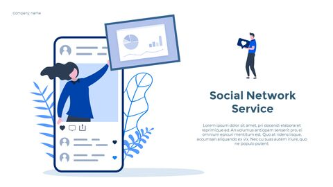 Social Network Communication Modern PPT Templates_08