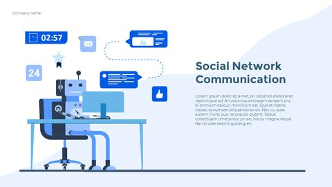 Social Network Communication Modern PPT Templates_11